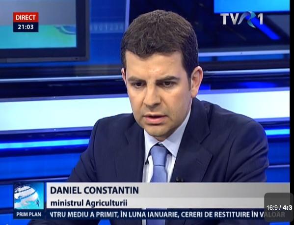 Daniel Constantin- ministru Agriculturii la TVR