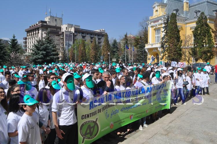 mars anti-drog la Botosani