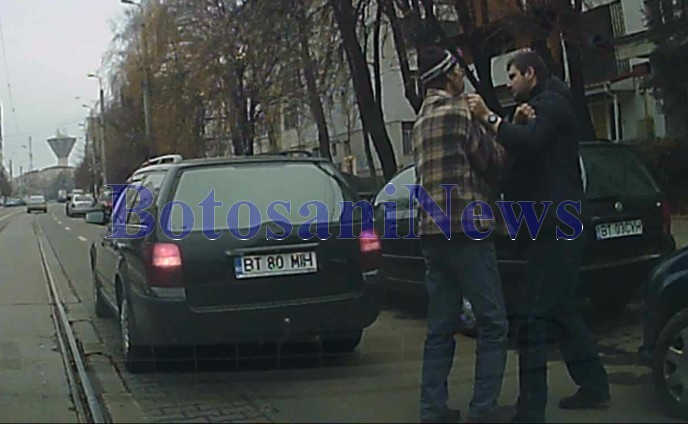 soferi care se iau la bataie pe strada Primaverii- Botosani