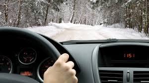 masina- soferi iarna