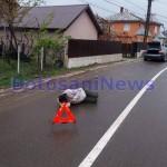 barbat intins pe strada cu indicator la cap - Darabani- Botosani