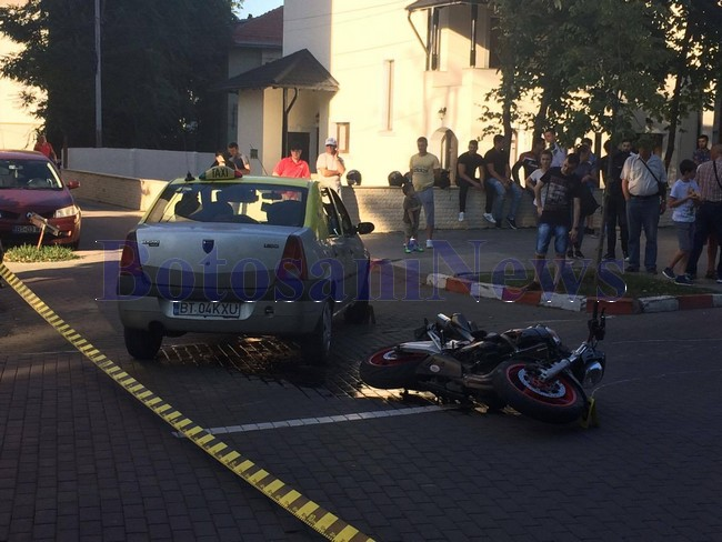 accident taxi motocicleta bulevardul mihai eminescu botosani