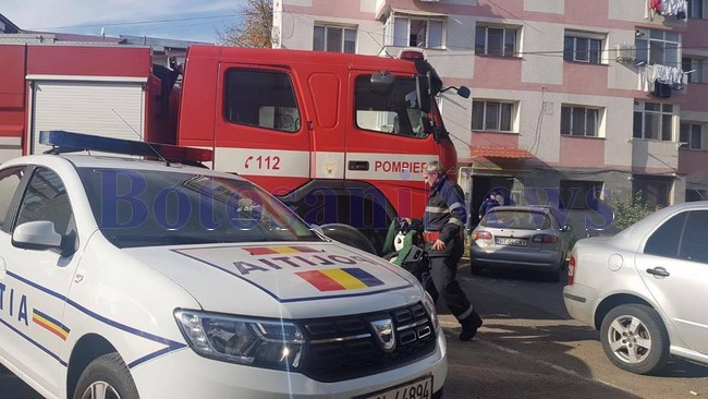 pompieri incendiu bloc, stiri, botosani