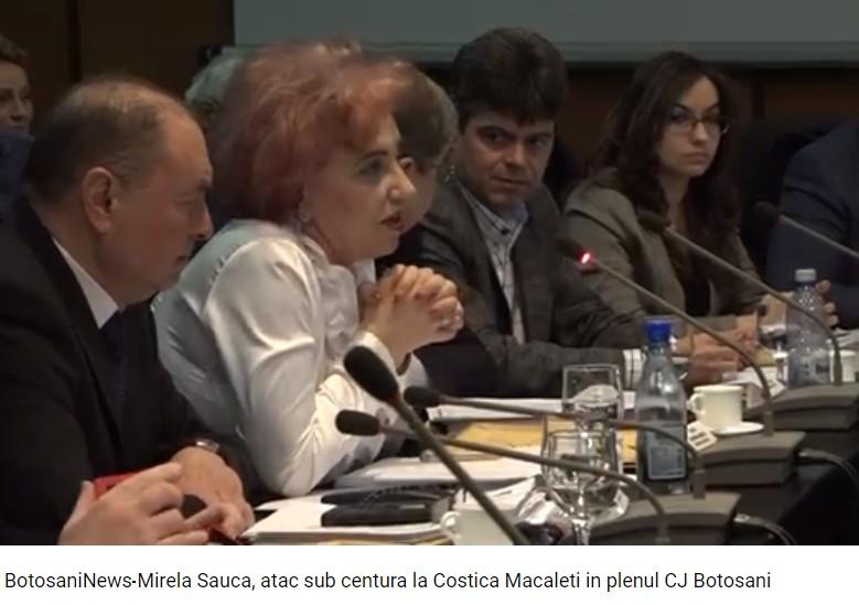 Mirela Sauca, ataca la seful CJ Botosani, Costica Macaleti