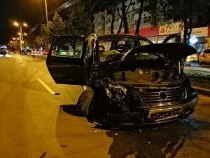 accident pe strada George Enescu - Botosani