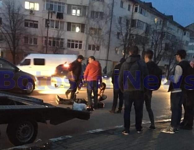 accident pe strada Savenilor - Botosani