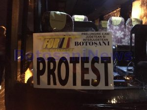 protest al transportatorilor din Botosani