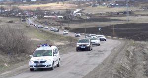 protest pentru drumul havarna- darabani din judetul Botosani