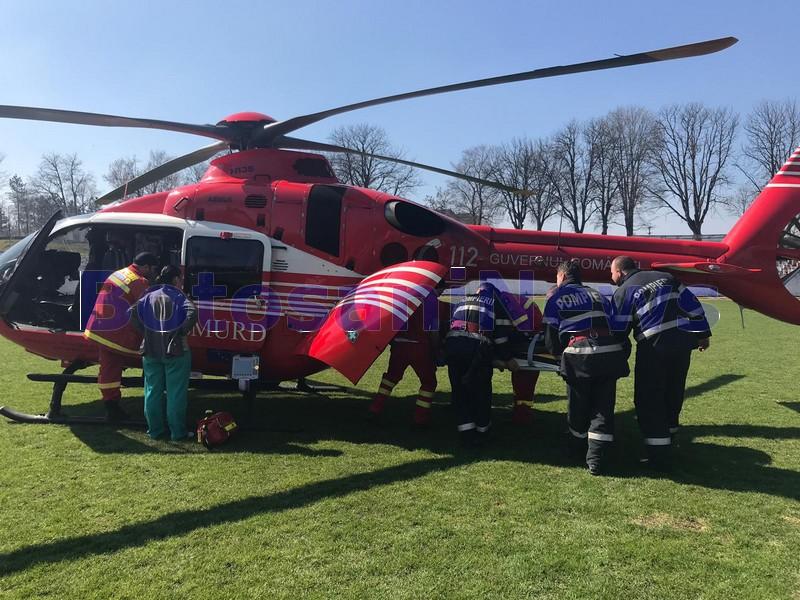 elicopter smurd la Dorohoi - Botosani