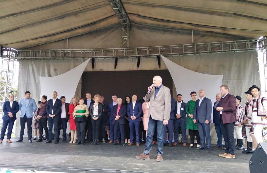 politicieni pe scena la Targul Agro Zoo de la Popauti- Botosani