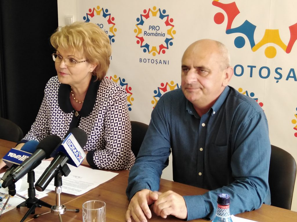 Mihaela Hunca si Dumitru Chelariu la Pro Romania Botosani
