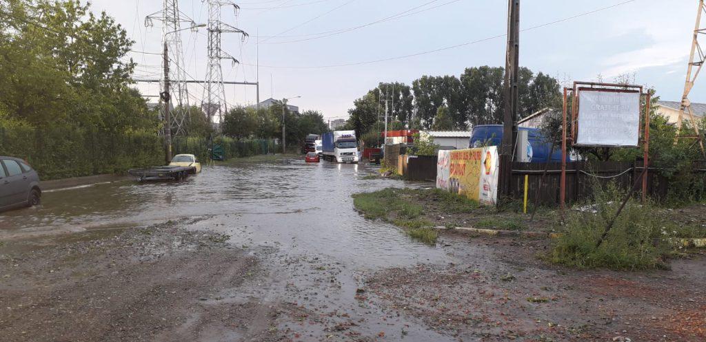 inundatii strada Pacea Botosani