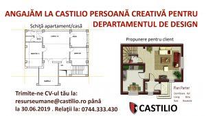 angajari Castilio Botosani- departament design