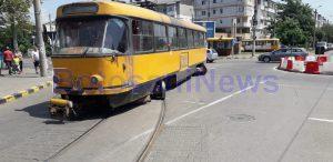 tramvai deraiat capatul 1- Botosani