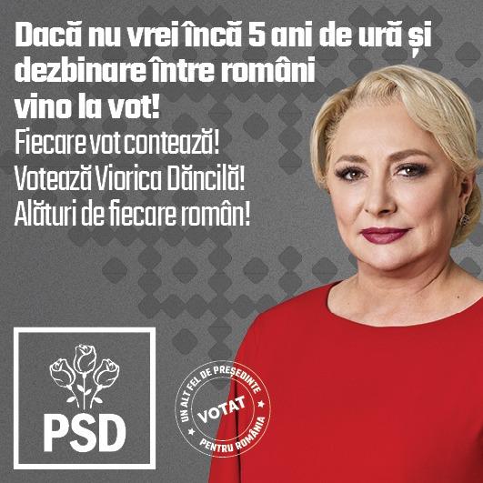 Comunicat PSD: Dacă Nu Vrei încă 5 Ani De Ură și Dezbinare